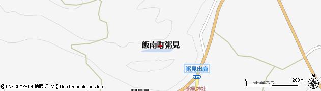 三重県松阪市飯南町粥見周辺の地図