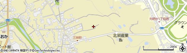 大阪府和泉市三林町周辺の地図