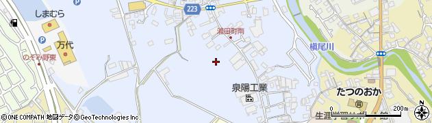 大阪府和泉市浦田町周辺の地図
