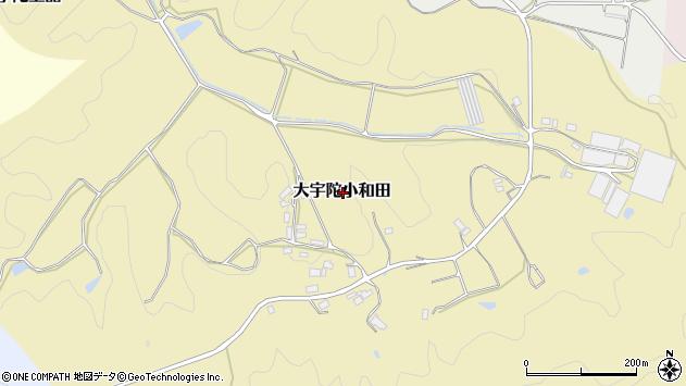 〒633-2134 奈良県宇陀市大宇陀小和田の地図