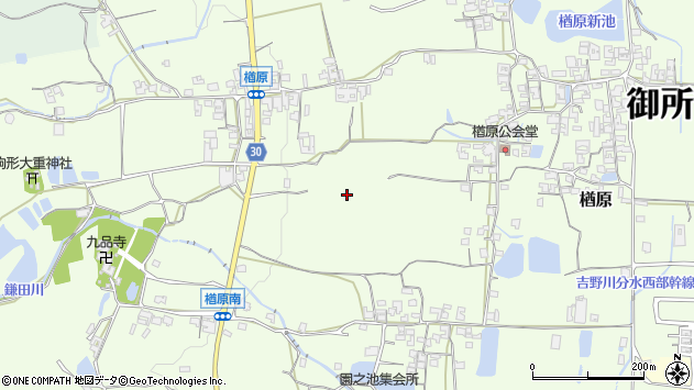 〒639-2313 奈良県御所市楢原の地図