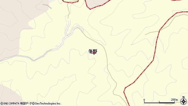 〒634-0117 奈良県高市郡明日香村冬野の地図