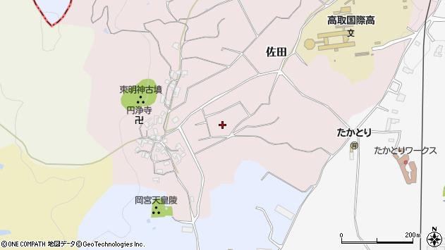〒635-0131 奈良県高市郡高取町佐田の地図