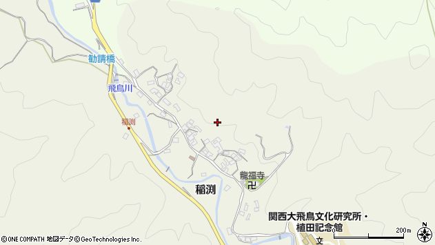 〒634-0123 奈良県高市郡明日香村稲渕の地図