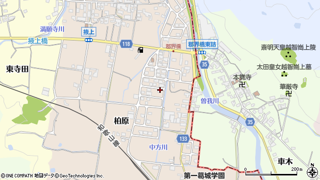 〒639-2244 奈良県御所市柏原の地図