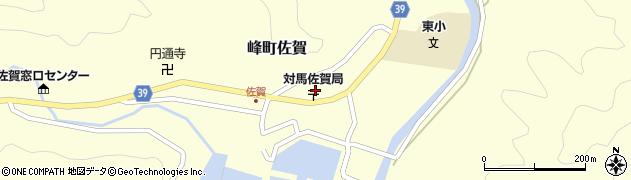 長崎県対馬市峰町佐賀周辺の地図