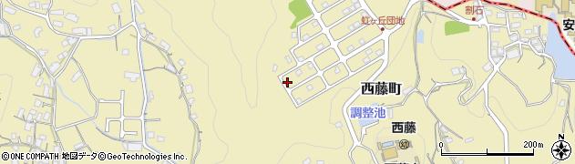 広島県尾道市西藤町周辺の地図