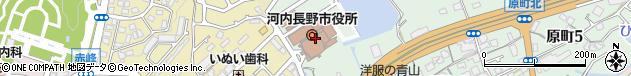 大阪府河内長野市周辺の地図