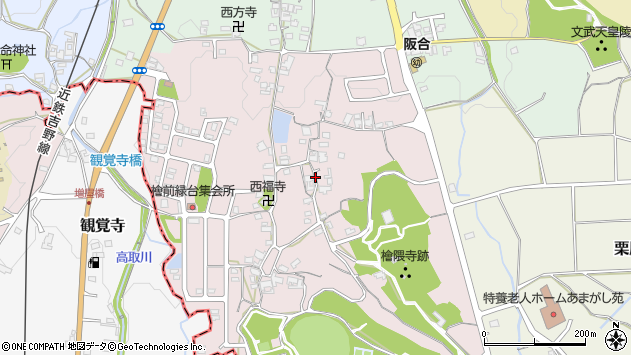 〒634-0135 奈良県高市郡明日香村檜前の地図
