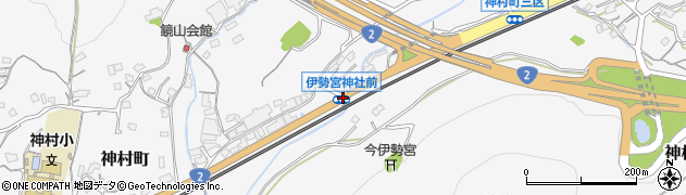 伊勢宮神社前周辺の地図