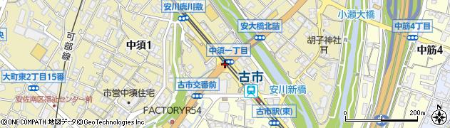 中須1周辺の地図