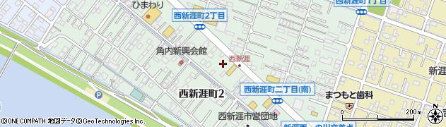 広島県福山市西新涯町周辺の地図