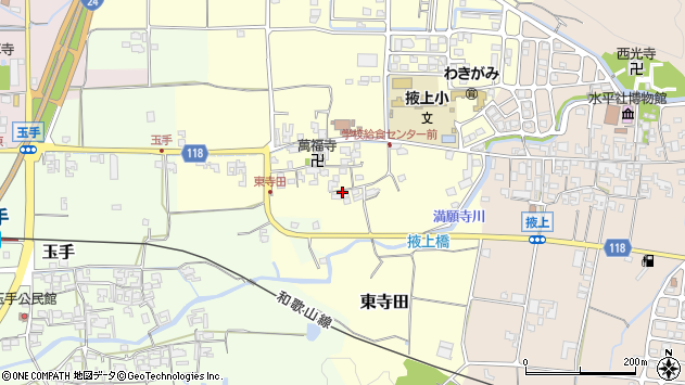 〒639-2243 奈良県御所市東寺田の地図