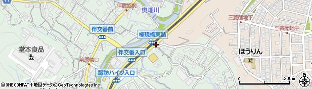 権現橋東詰周辺の地図