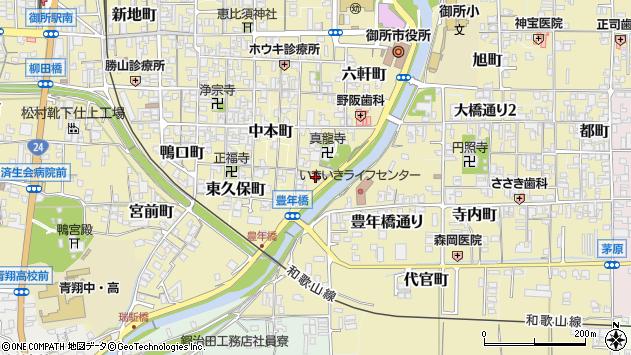 〒639-2224 奈良県御所市西柏町の地図