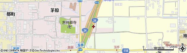 奈良県御所市茅原周辺の地図