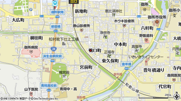 〒639-2229 奈良県御所市鴨口町の地図