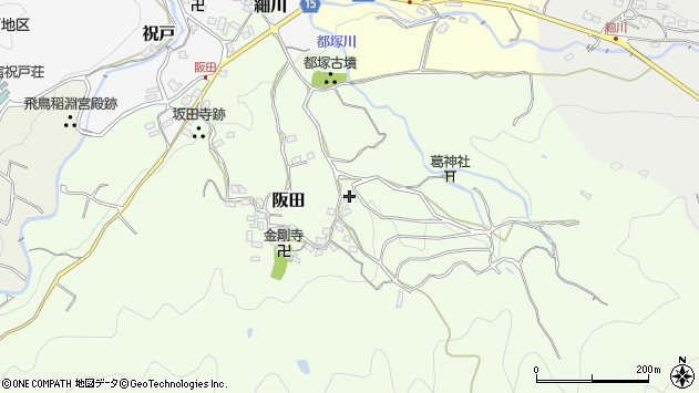 〒634-0122 奈良県高市郡明日香村阪田の地図