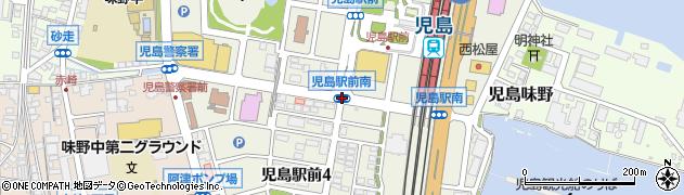 児島駅前南周辺の地図