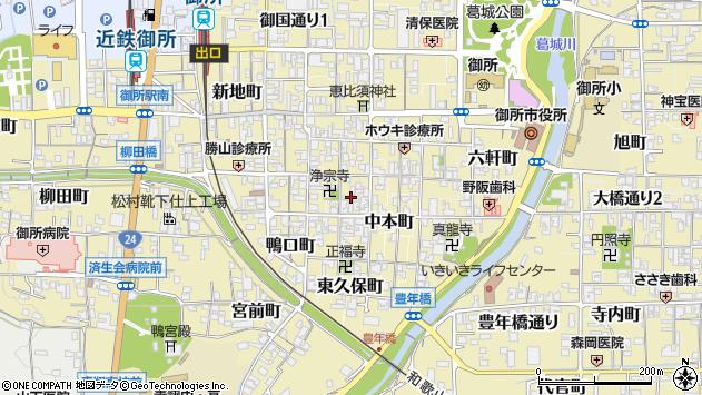 〒639-2214 奈良県御所市御堂魚棚町の地図