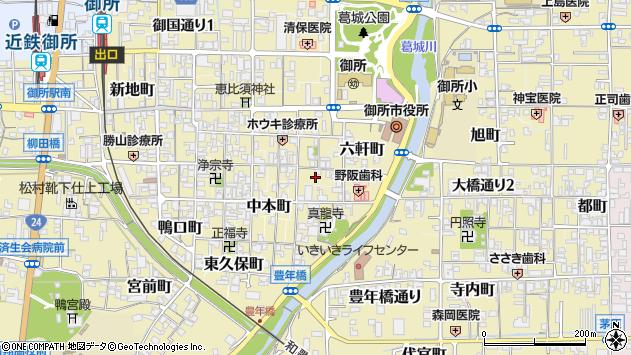 〒639-2213 奈良県御所市神宮町の地図