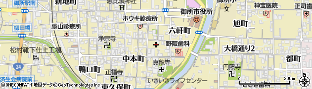 奈良県御所市神宮町周辺の地図