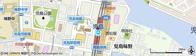 児島駅周辺の地図
