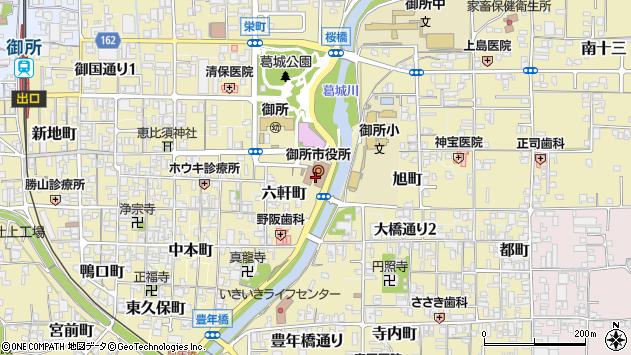 〒639-2200 奈良県御所市(以下に掲載がない場合)の地図