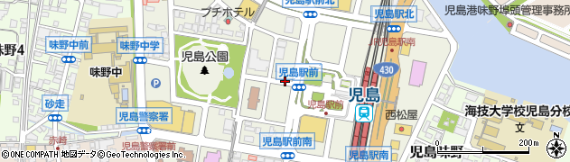 岡山県倉敷市児島駅前周辺の地図