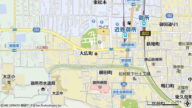 〒639-2304 奈良県御所市大広町の地図