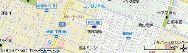 卸町(西)周辺の地図