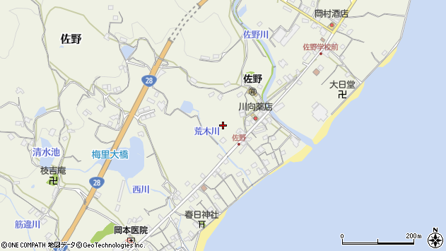〒656-2212 兵庫県淡路市佐野の地図