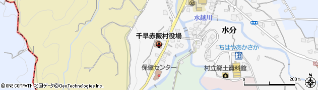 大阪府南河内郡千早赤阪村周辺の地図