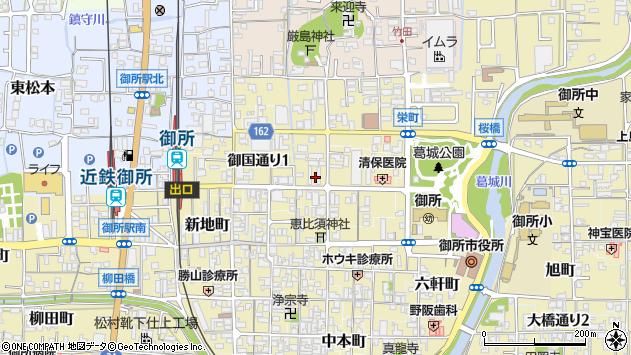 〒639-2211 奈良県御所市JR御所駅前通りの地図