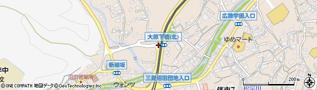 大原下橋(東)周辺の地図