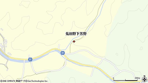 〒633-2212 奈良県宇陀市菟田野下芳野の地図