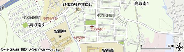 平和台団地周辺の地図