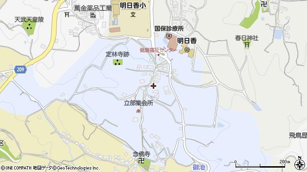 〒634-0143 奈良県高市郡明日香村立部の地図