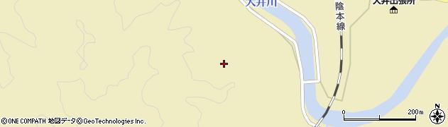 山口県萩市大井(門前)周辺の地図