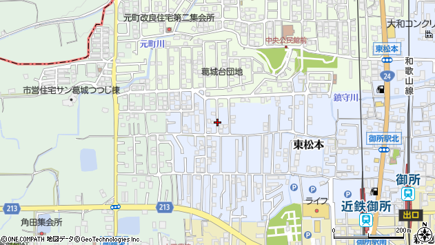 〒639-2302 奈良県御所市東松本の地図