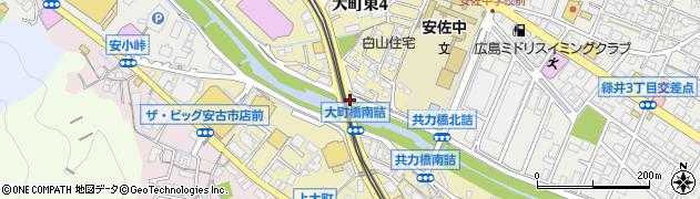 大町橋北詰周辺の地図