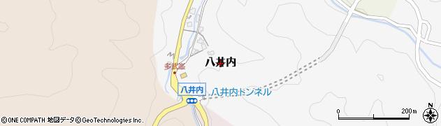 奈良県桜井市八井内周辺の地図