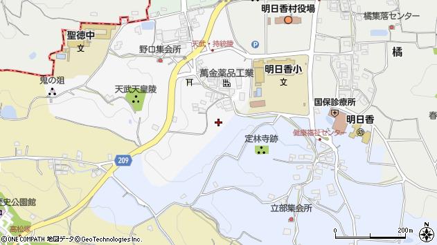 〒634-0145 奈良県高市郡明日香村野口の地図
