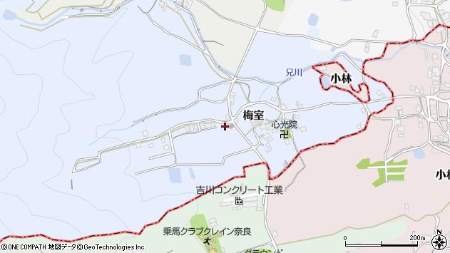 〒639-2133 奈良県葛城市梅室の地図
