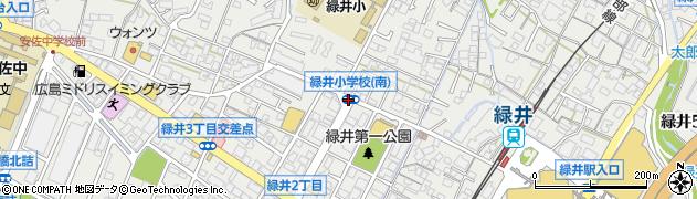 緑井小南周辺の地図