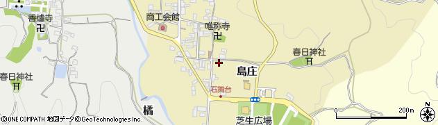 奈良県高市郡明日香村島庄周辺の地図