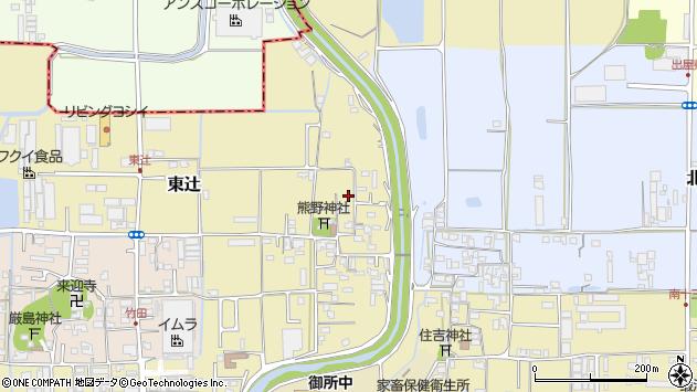 〒639-2205 奈良県御所市東辻の地図