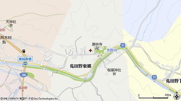 〒633-2215 奈良県宇陀市菟田野東郷の地図
