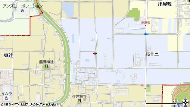 〒639-2203 奈良県御所市北十三の地図