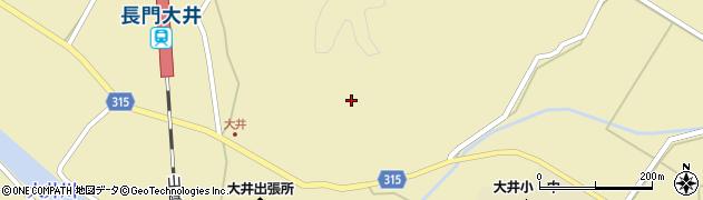山口県萩市大井(大井庄屋)周辺の地図